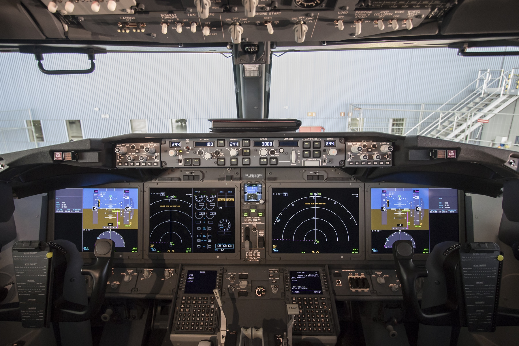 An Automatic Stall-Prevention System (MCAS) is not included in the Boeing  737MAX flight crew operations manual (FCOM)
